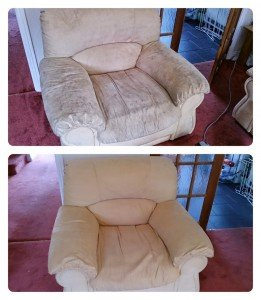 dirty chair before and after